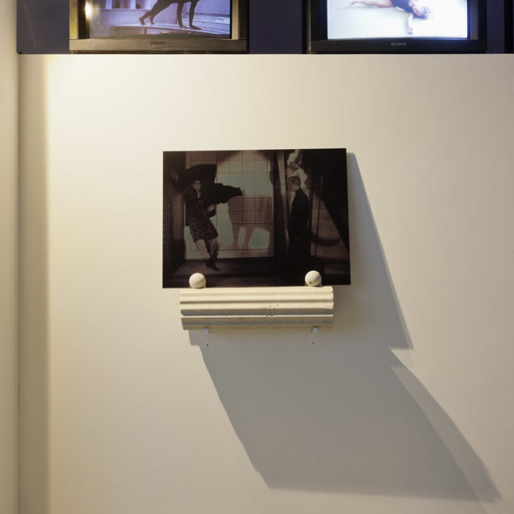 SALTS L'Age d'Or If you put a roof on concrete gold mirror video installation trinitron