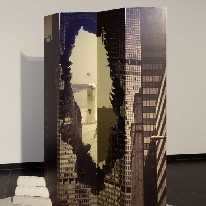 SALTS L'Age d'Or pastry concrete gold mirror PanAm building King Kong