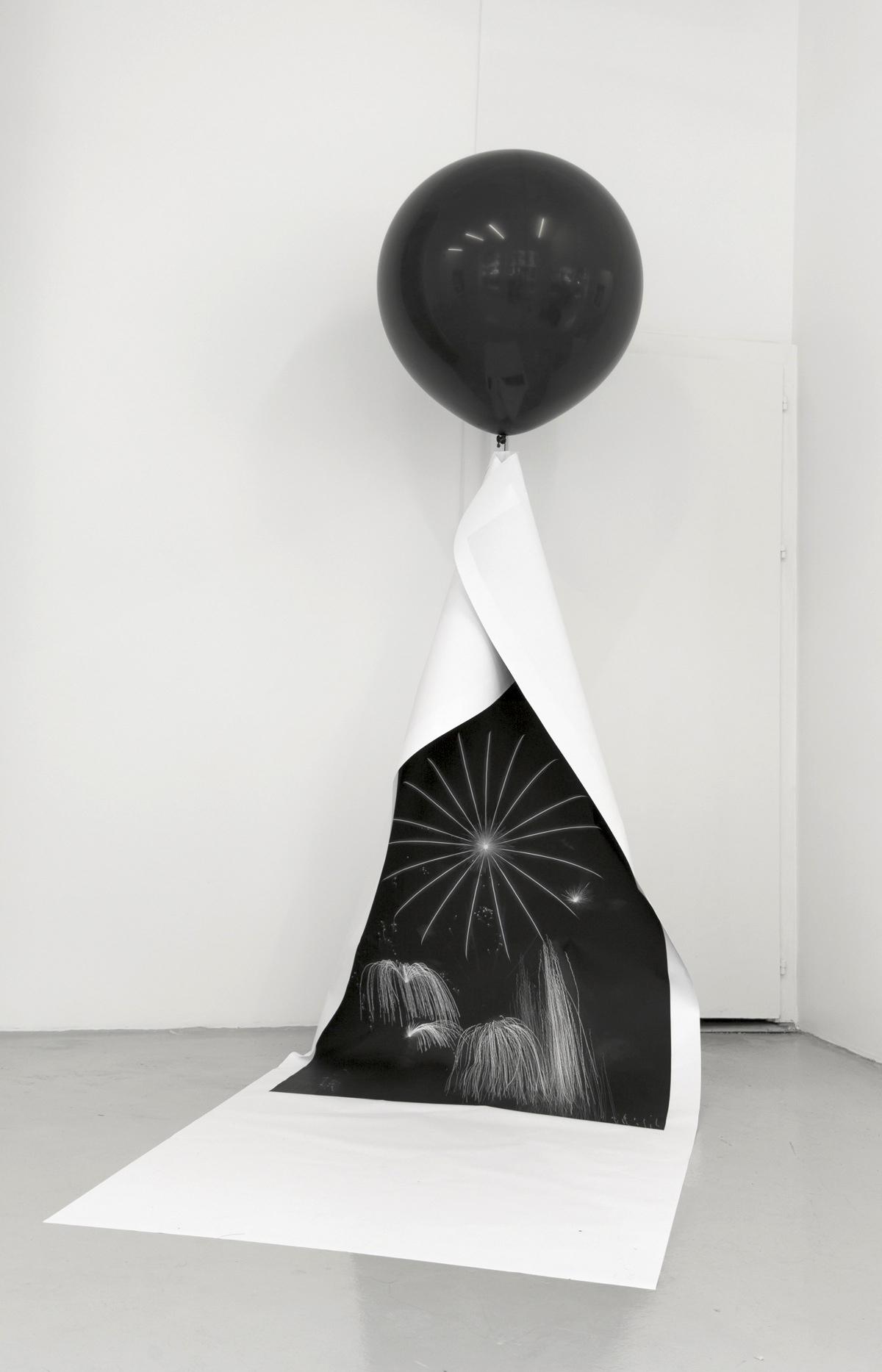 Artifice helium balloon print paper fireworks