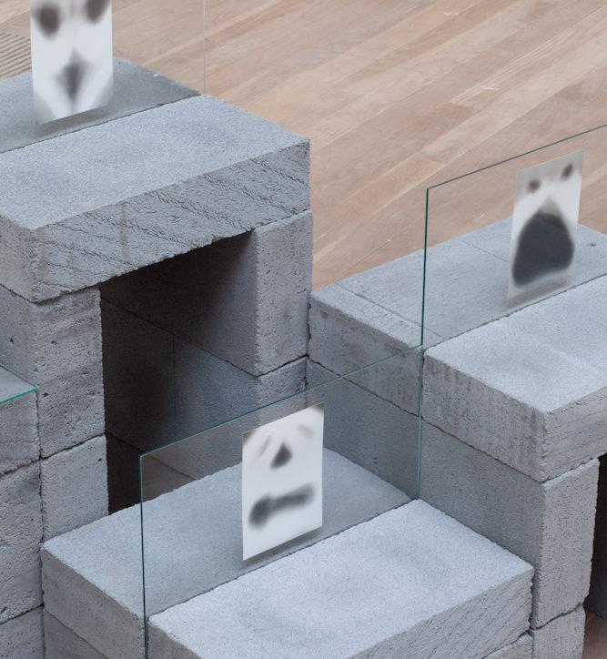 Audience Swiss Church London photogram ghost concrete blocks glass