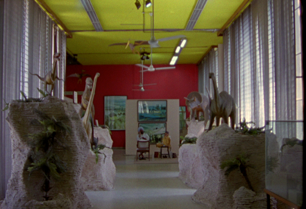 Chandigarh Bolex 16 mm video still Le Corbusier Jeanneret dinosaures