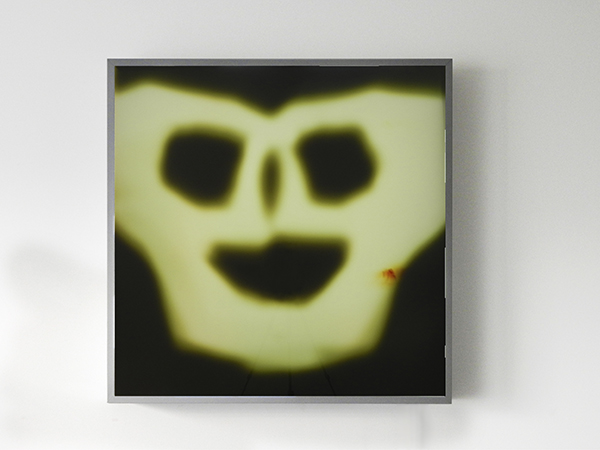Ectoplasme photogram rayograph yellow duratrans lightbox ghost