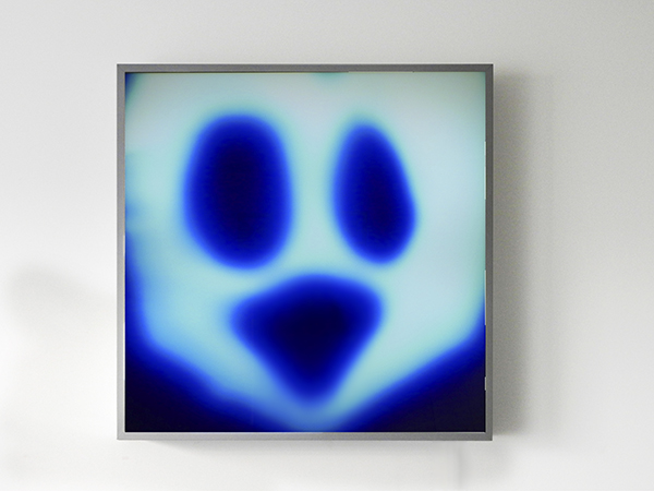 Ectoplasme photogram rayograph blue duratrans lightbox ghost