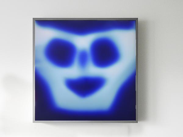 Ectoplasme photogram rayograph blue duratrans lightbox ghost