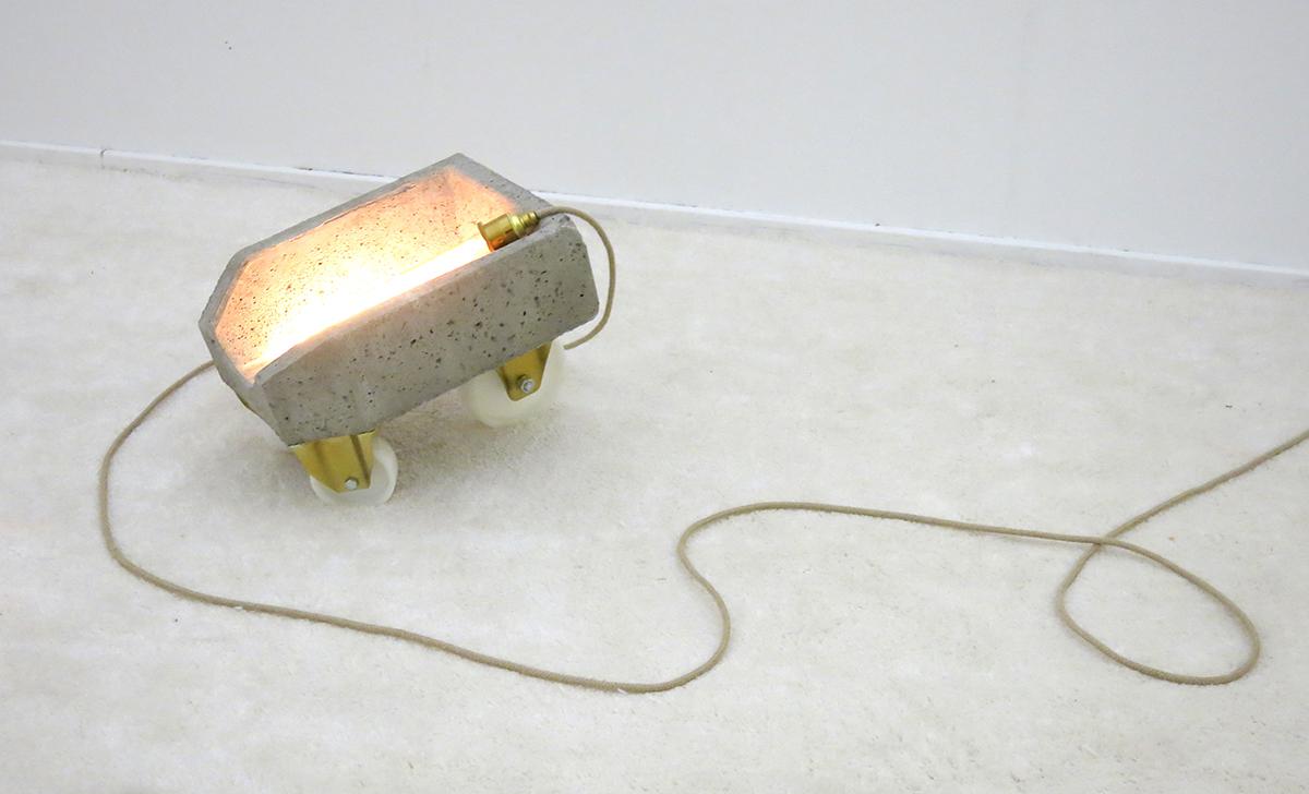 The Intruder Swiss Art Awards Amphora concrete light gold wheel