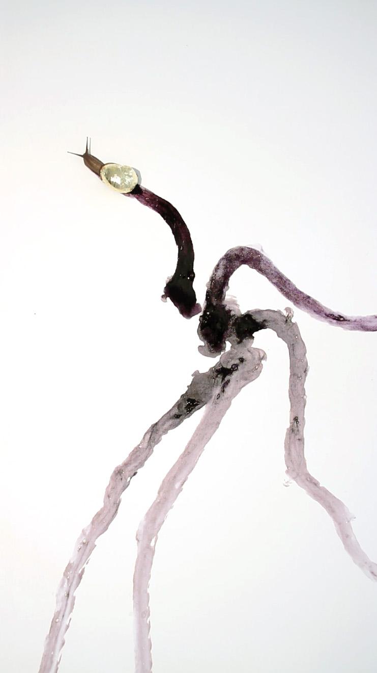 Caravan Pauahtun scribes Aargauer Kunsthaus gold snail video painting